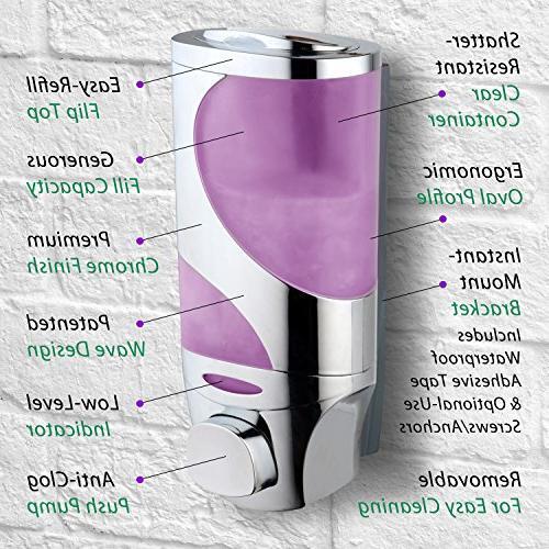Hydroluxe Shower Head Technology High Power Water Flow Wave Luxury Soap / Shampoo / Modular Design Dispenser