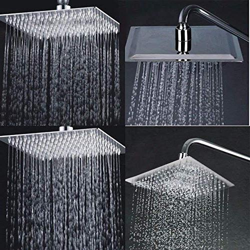 Litcher Rainfall High 304 Stainless Effect, Thin Degree Adjustable,Self-Cleaning Nozzle,for Bathroom &