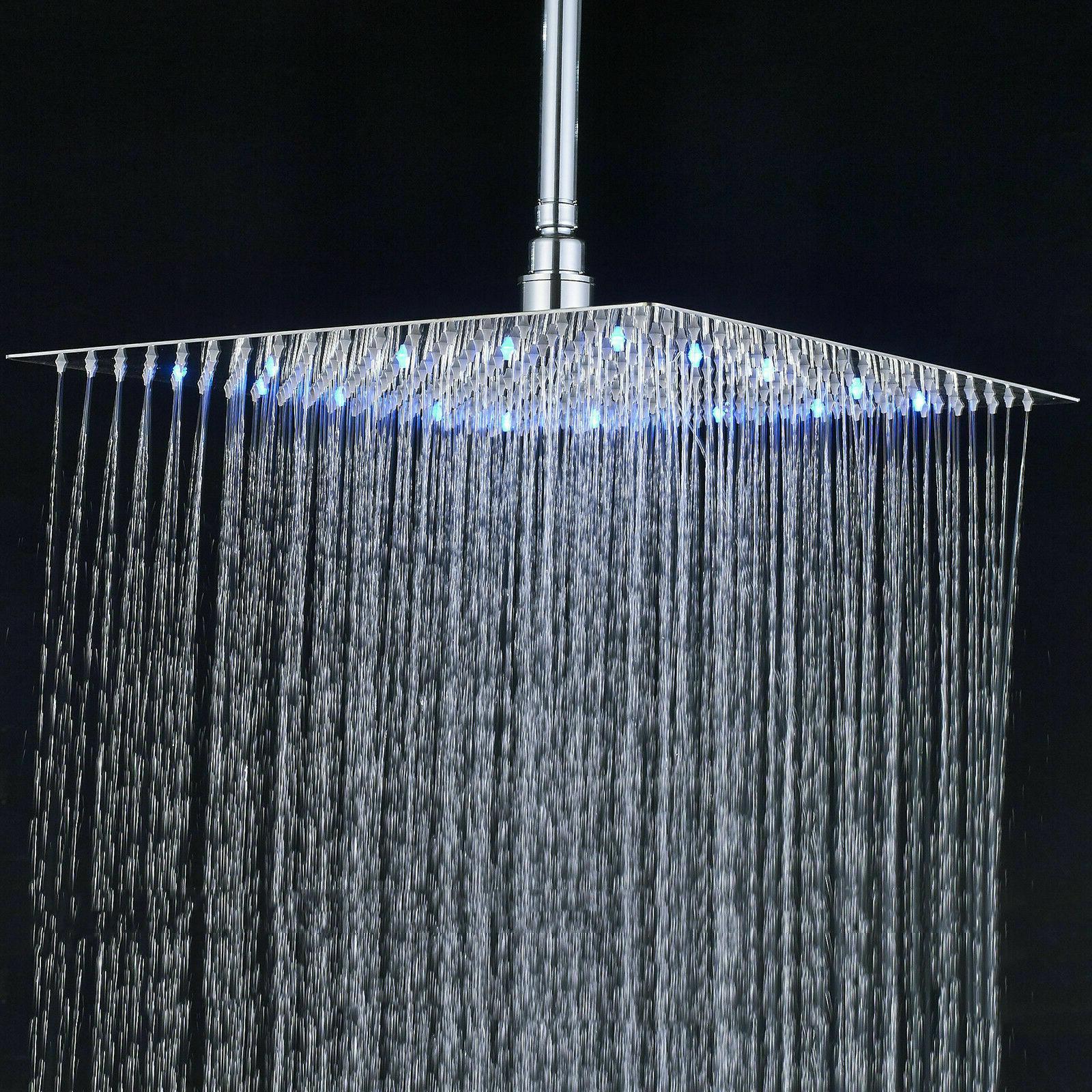 Shower 16-Inch LED Chrome Ultrathin Heads