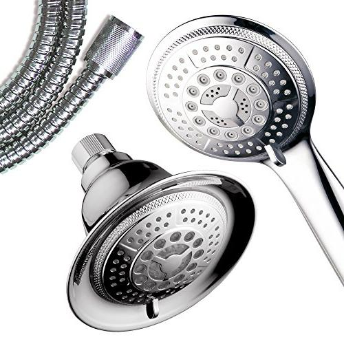 HotelSpa Combo 2 in Combination Shower System Use Hands-Free Enjoy or LED Pampering Shower Heads and Ambiance of LED