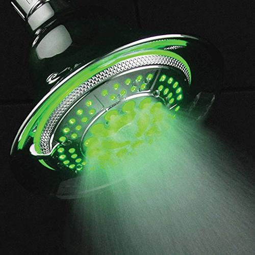 HotelSpa LED Shower Head. 2 in 1 Shower Use Overhead Hands-Free LED Pampering Heads and LED Lighting