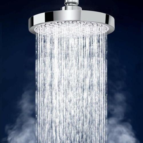 "Shower Fixed Showerheads Head-ZQIN 6""Inch Pressure-Fixed Luxury Chrome-The"