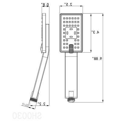 AKDY Shower Head Inch Single Mount 2 Spray
