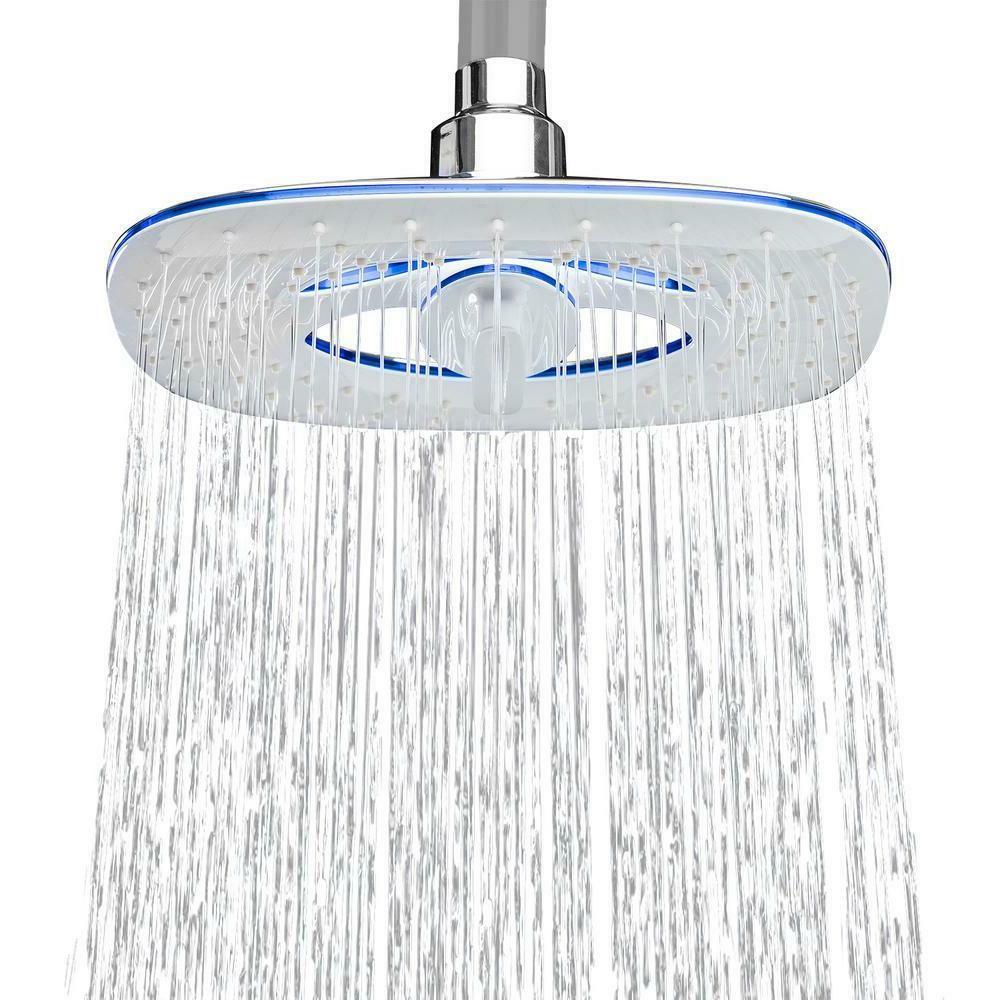 shower head bathroom fixed rainfall waterfall 8