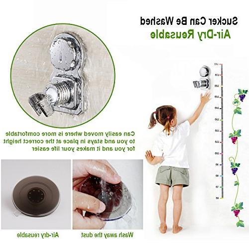 Shower Head Suction Shower 360° Rotatable & Holder Stick -