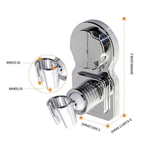 Shower Head Suction Shower Bracket 360° Rotatable Height Mount Shower Holder with - No