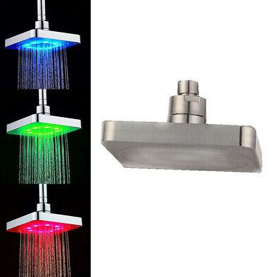 Shower Head Water Sprinkler LED Wall Accessories 3 Color Changing