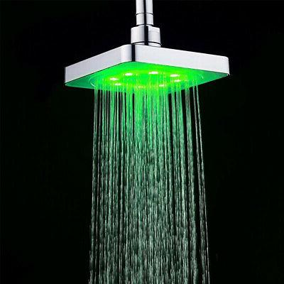 Shower Head Water Sprinkler Accessories Color Changing
