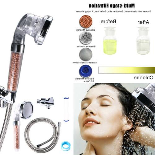 Shower Head with Hose High Pressure Handheld Ionic Filter Sh