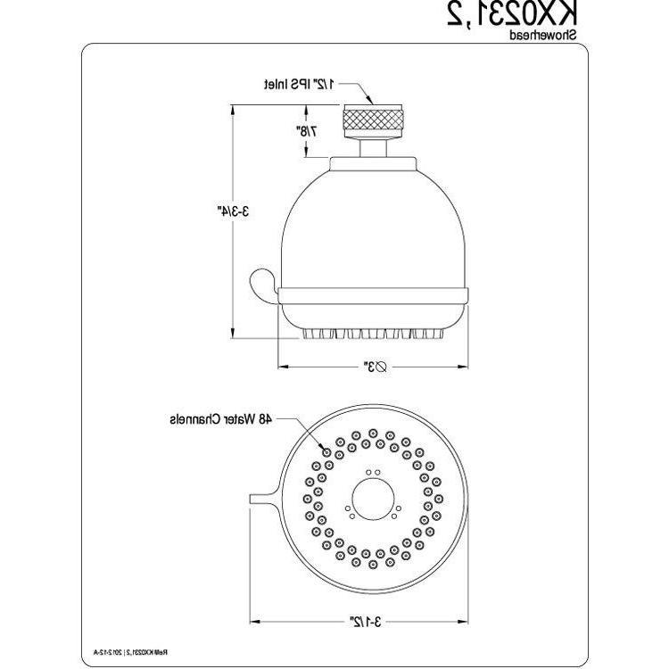 """Kingston Brass Showerheads 3"""" Fixed Shower Head KX0231"""
