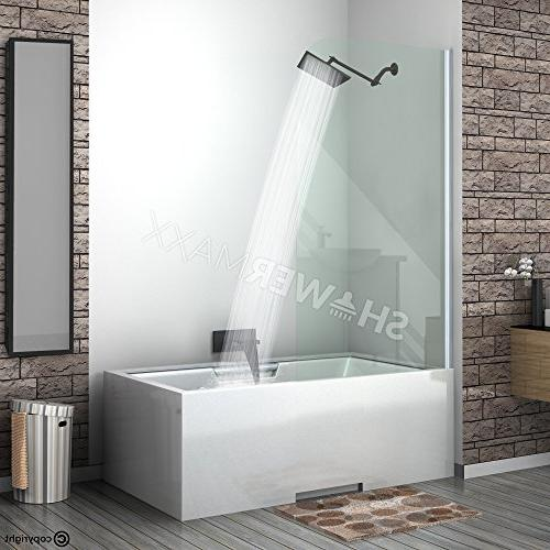 ShowerMaxx Square High Pressure Spa Shower Head- Removable Restrictor Rainshower- Self Flow Finish Rain Showerhead