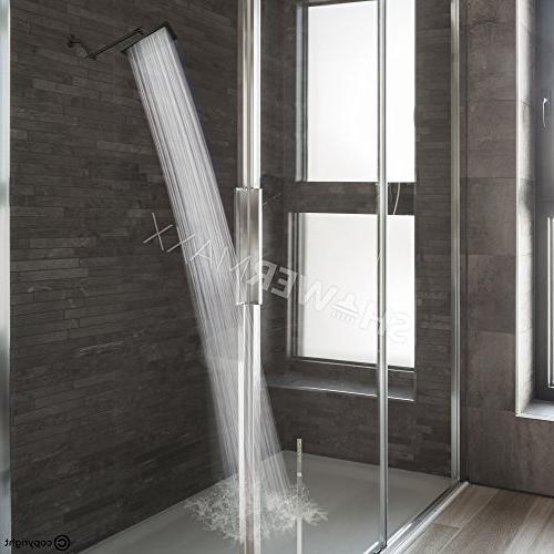 ShowerMaxx Square High Pressure Spa Rainfall Removable Rainshower- Self Cleaning Flow Finish