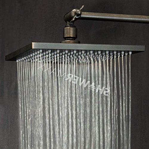 ShowerMaxx Square High Luxury Spa Removable Restrictor for Waterfall Rainshower- Self High Flow Rubbed Finish