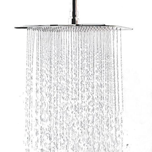square stainless steel shower head