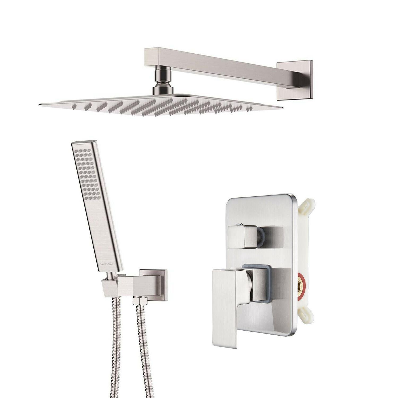 stainless steel slimline square rainfall