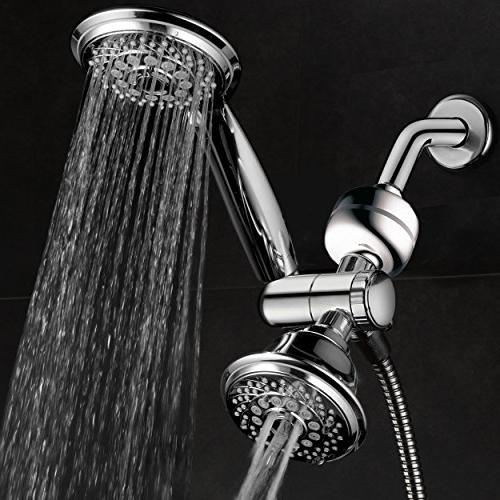 HotelSpa 3-in-1 Shower Gift Set. Includes 30-Setting Shower Head/Handheld Combo and 3-Stage Shower with Enjoy Spa Luxury PLUS Shower Water!