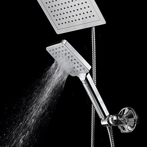 """DreamSpa 9"""" Shower Push-Button Flow for easy one-handed operation. Switch the hand! Chrome"""