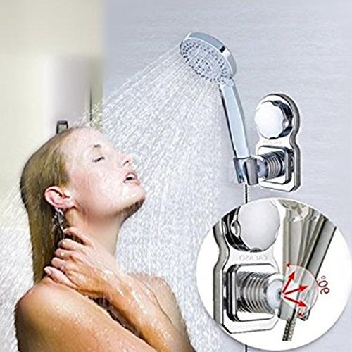 Vacuum Head Shower Stand Head Shower Holder Shower Head Reusable Adjustable With Adhesive Stick For