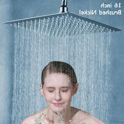 Large Shower Head Square Rain 16-inch Top Shower Sprayer Nic