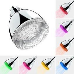 LED Shower Head Fixed Bathroom Fixtures Home Improvement 7 C