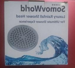 "SomovWorld Luxury Rainfall Shower Head 6"" - NIB"