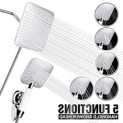 TAPCET Luxury Shower Head Set- 5 in 1 Multi-functional High