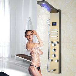 Matte Black 12 inch Shower Faucet Set Rainfall Shower Head w