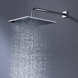 Luxury Hotel Rain Shower Head 12 Inch with 2.5 GPM High Pres