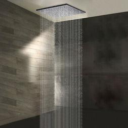 10 inch LED Chrome Square Rain Shower Head Wall Ceiling Moun