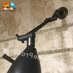 """Oil Rubbed Bronze Adjustable 10"""" Shower Arm Solid Brass Show"""