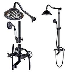 Rozin Oil Rubbed Bronze Bathroom Shower Faucet Set 8 Inch Sh