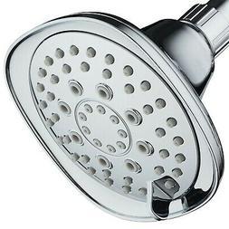"AquaDance Oval Square 6-Setting High-Pressure 4.3"" Shower He"