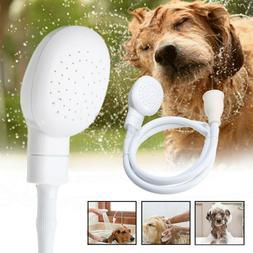 Portable Dog Pet Care Shower Spray Hose Bath Tub Sink Faucet