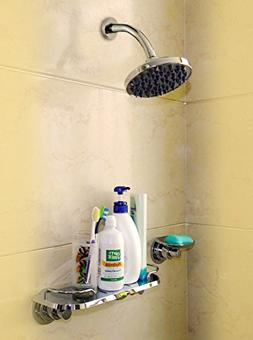 Powerful Suction Cup Shower Caddy Basket - Organizer Storage