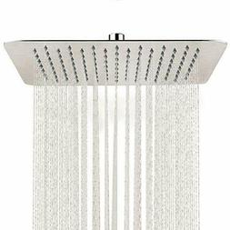 SR SUN RISE 12 Inch Rain Shower Head Brushed Nickel 304 Stai