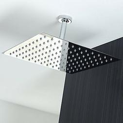 Koko Brand Rain16 16 inch Solid Square Ultra Thin Rain Showe
