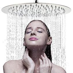 """Large Rainfall Shower Head, Voolan 12"""" High Flow Stainless S"""