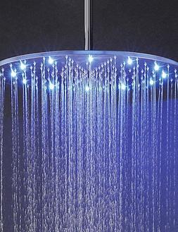 20 Inch Rainfall Bathroom Shower Head 3 Colors Temperature S