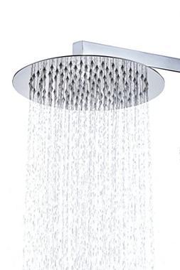 BWE 10 Inch Round Stainless Steel Shower Head - Rain Style S