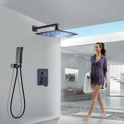 Rozin Shower Faucet Combo System 12 inch LED Rain Shower Hea