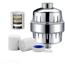 Shower filter to remove chlorine, flouride, and lead.12 stag