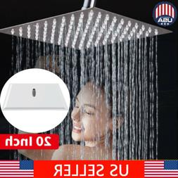 Large 20'' Square Stainless Steel Rain Shower Head Rainfall