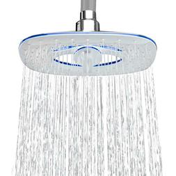 Shower Head Bathroom Fixed Rainfall Waterfall 8 Inch 2-Spray