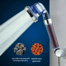 Shower Head High-Pressure Water-Saving 3 Mode Ionic Filtrati