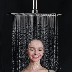ESNBIA Shower Head 12 Inch Rectangular High Pressure Stainle