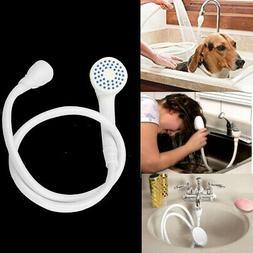 Shower Spray Hose Bath Tub Sink Faucet Attachment Pet Hair W