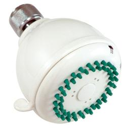 showerheads white 3 fixed adjustable shower head