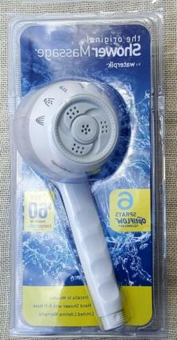 Waterpik SM-451 Handheld Massage Shower Head, 6 Spray Opti-f