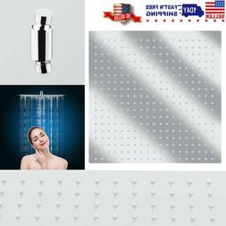 Shower Head 16-Inch LED Chrome Square Rain Sprayer Ultrathin