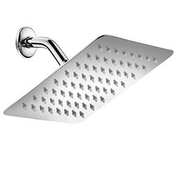 HotelSpa 8-inch 100% Stainless Steel Rainfall Shower Head wi